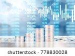 coin stacks   business money... | Shutterstock . vector #778830028