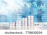 coin stacks   business money... | Shutterstock . vector #778830034