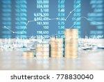 coin stacks   business money... | Shutterstock . vector #778830040