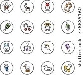 line vector icon set   baby... | Shutterstock .eps vector #778839160