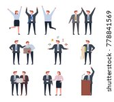 election candidates and a... | Shutterstock .eps vector #778841569