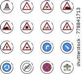 line vector icon set   road... | Shutterstock .eps vector #778841713