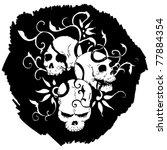 skulls pattern | Shutterstock .eps vector #77884354