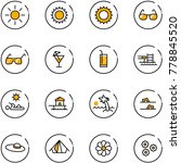 line vector icon set   sun...