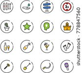 line vector icon set   ski... | Shutterstock .eps vector #778847560