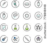 line vector icon set   pipette... | Shutterstock .eps vector #778848448
