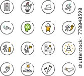 line vector icon set   metal... | Shutterstock .eps vector #778848598