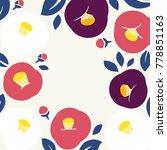 camellia vector illustration | Shutterstock .eps vector #778851163
