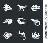 reptiles set icons. | Shutterstock . vector #778854748