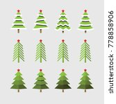 christmas tree vector  | Shutterstock .eps vector #778858906