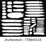 collection of hand drawn white... | Shutterstock .eps vector #778865113