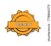 yellow premium quality sticker... | Shutterstock .eps vector #778866373
