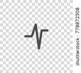 pulse vector icon | Shutterstock .eps vector #778872508