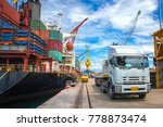 delivery and transit cargo... | Shutterstock . vector #778873474