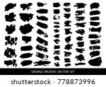 set of black paint  ink brush... | Shutterstock .eps vector #778873996