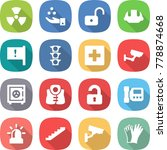 flat vector icon set   nuclear... | Shutterstock .eps vector #778874668