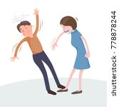 woman slap man  controversy ... | Shutterstock .eps vector #778878244