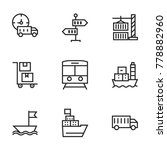 transport icon set collection.... | Shutterstock .eps vector #778882960