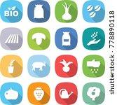 flat vector icon set   bio... | Shutterstock .eps vector #778890118