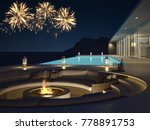 pool villa with fireworks and... | Shutterstock . vector #778891753