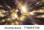 abstract gold bokeh circles on... | Shutterstock . vector #778895740