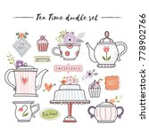 Tea Time Doodle Set