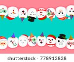 set of new year celebration... | Shutterstock .eps vector #778912828