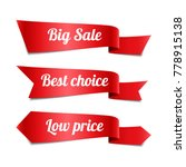set of decorative sale red... | Shutterstock .eps vector #778915138