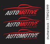 automotive line premium logo... | Shutterstock .eps vector #778921999