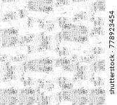 grunge black and white pattern. ... | Shutterstock . vector #778923454