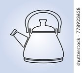 black line kettle white grey... | Shutterstock .eps vector #778923628