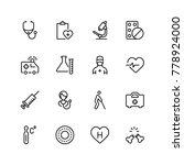 pharmaceutical icon set.... | Shutterstock .eps vector #778924000