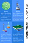 chemistry and biology posters... | Shutterstock .eps vector #778924510