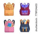 set of rucksacks for girls and... | Shutterstock .eps vector #778924603