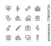 pharmaceutical icon set.... | Shutterstock .eps vector #778924714