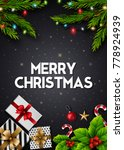 christmas greeting card with... | Shutterstock .eps vector #778924939
