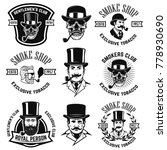 set of smokers club emblems.... | Shutterstock .eps vector #778930690