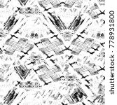 grunge black and white pattern. ... | Shutterstock . vector #778931800