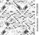 grunge black and white pattern. ... | Shutterstock . vector #778931800