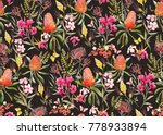 watercolor tropical  pattern  ... | Shutterstock . vector #778933894
