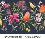 watercolor tropical horizontal... | Shutterstock . vector #778933900