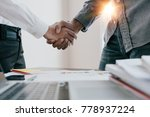 close up of business people... | Shutterstock . vector #778937224