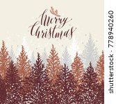 hand drawn christmas card. new... | Shutterstock .eps vector #778940260