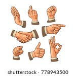male hand sign. fist  like ... | Shutterstock .eps vector #778943500