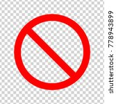 ban sign.  red icon on... | Shutterstock .eps vector #778943899