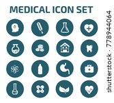medical icon set design vector | Shutterstock .eps vector #778944064