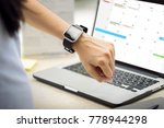 woman hand with smart watch on... | Shutterstock . vector #778944298