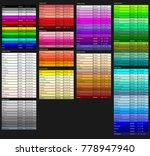 mega set of color shades. color ... | Shutterstock .eps vector #778947940