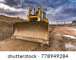 excavators in a construction... | Shutterstock . vector #778949284