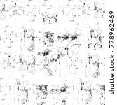 grunge black and white pattern. ... | Shutterstock . vector #778962469